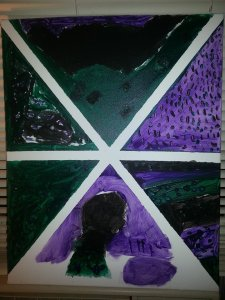 A canvas painting that the School Age kids made for me, using my favorite colors