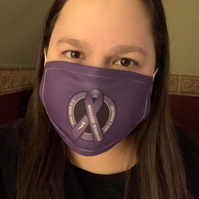 migraine warrior mask pic